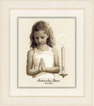 Primary image for Confirmation Girl Kit 18ct aida cross stitch kit Vervaco