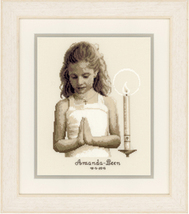 Confirmation Girl Kit 18ct aida cross stitch kit Vervaco   - $29.70