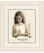 Confirmation Girl Kit 18ct aida cross stitch ki... - $29.70