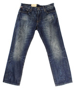 NEW DENIM & SUPPLY RALPH LAUREN SLOUCH RELAXED FIT DISTRESSED BLUE J... - $59.99