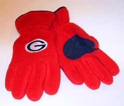 Officially Licensed NCAA Georgia Bulldogs Mens Lined Fleece Gloves XL NWT - $9.99