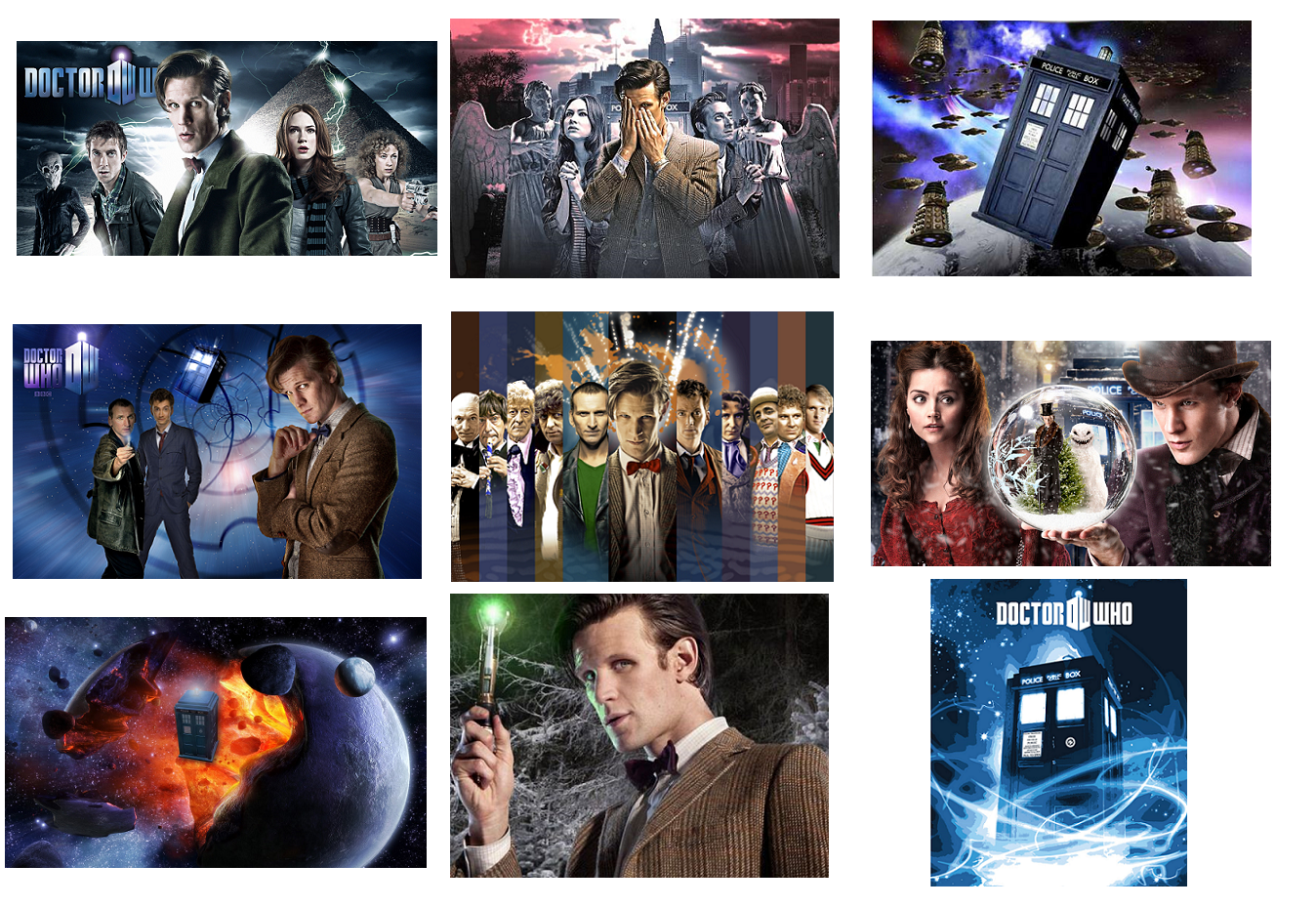 Primary image for 9 Doctor Who INSPIRED Stickers, Party Supplies, Gifts, Favors, Birthday,Labels