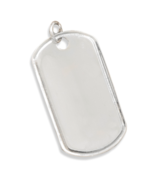 Sterling Silver Dog Tag Pendant - $54.97