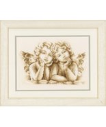 Dreaming Angels Kit 14ct aida cross stitch kit Vervaco   - $28.80