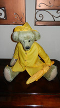 Ganz Cottage Collectibles Teddy Bear ~ Spencer ~ Sue Coe with Rain Gear & Tags - $59.99