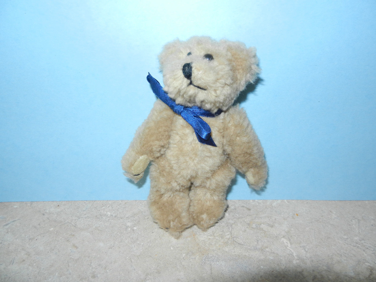 Primary image for Boyds Bears ~ Eden ~ Stuffed Plush Teddy Bear with Blue Ribbon Small 5 1/2""