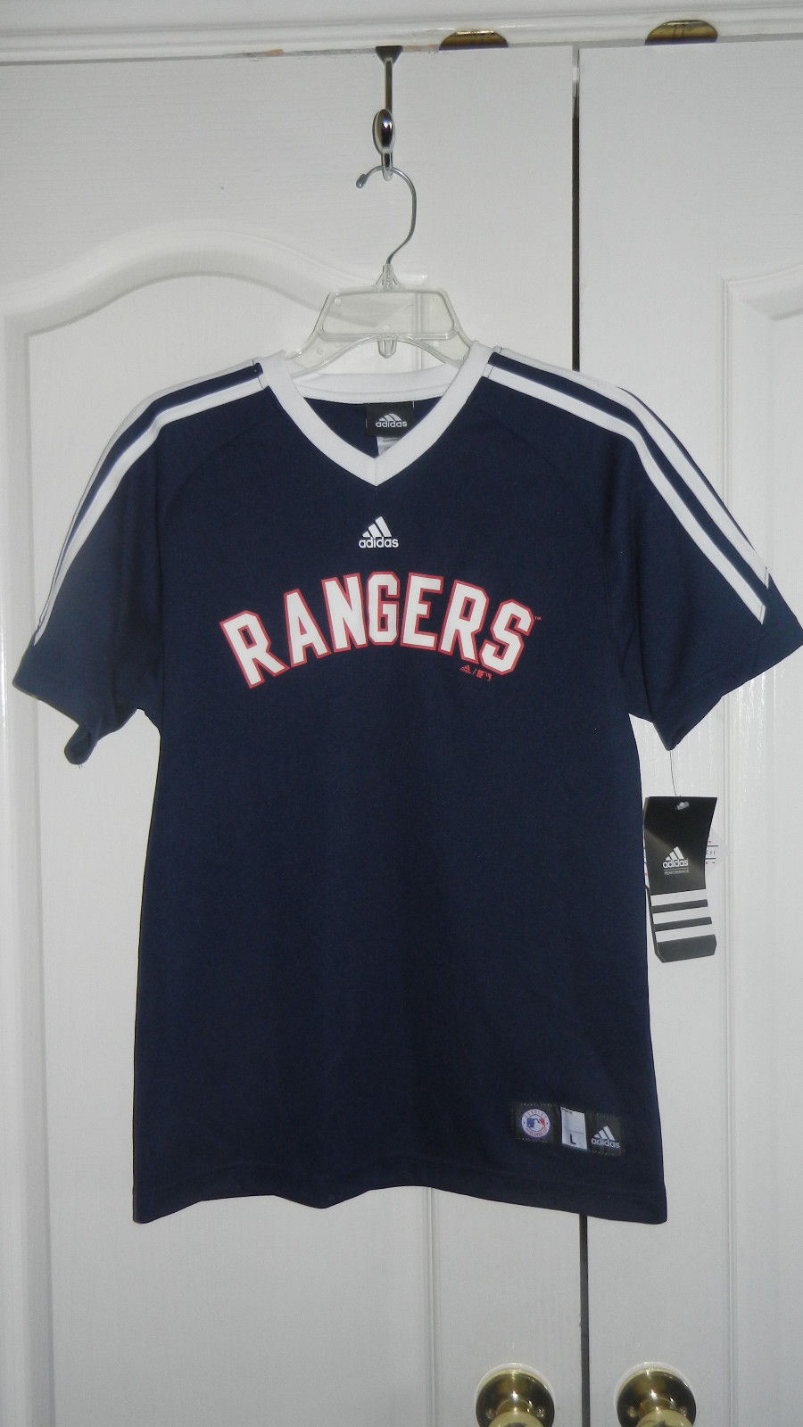 Primary image for Adidas Texas Rangers MLB Performance Jersey Youth Large (14/16) New NWT Licensed