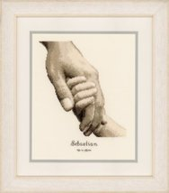 Fatherhood 18ct aida baby birth cross stitch kit Vervaco   - $27.90