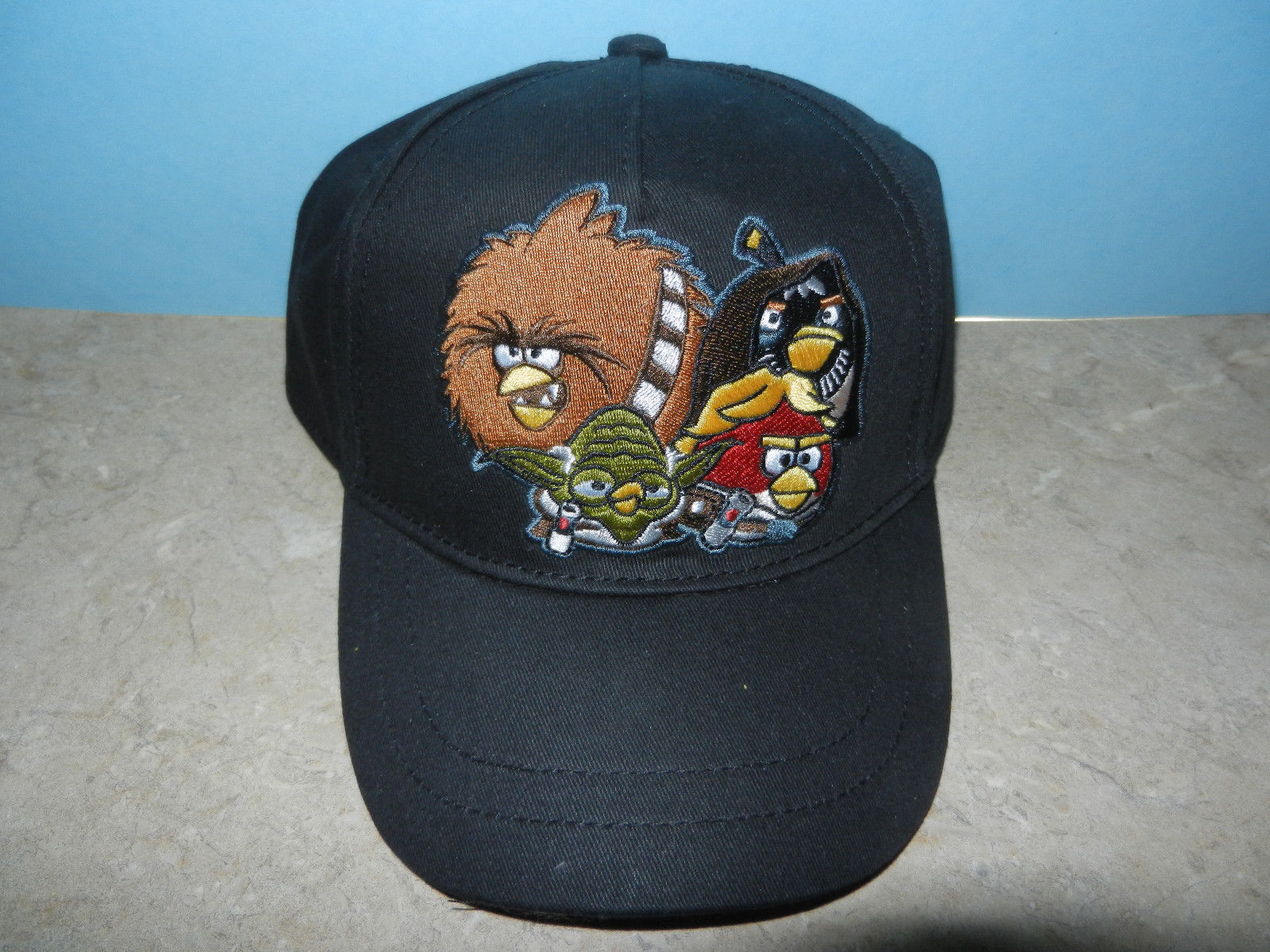 Primary image for Angry Birds Star Wars Baseball Hat Cap Black One Size Adjustable Velcro NEW NWT