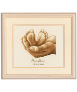 Tiny Feet kit 18ct aida baby birth cross stitch... - $24.30