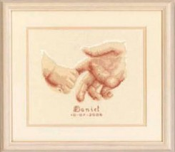Tenderness kit 18ct aida baby birth cross stitch kit Vervaco   - $24.30