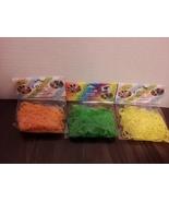 3 packs of Loom Bands 300 Pc each Neon-Orange, Neon–Green, Neon-Yellow  New - $1.99