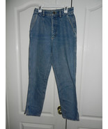 Lee Vintage 1980s Pleated Denim Stonewash Blue Jeans Juniors Sz 9 High W... - $27.99