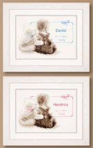 Birth Announcement Kit 14ct aida baby birth cross stitch kit Vervaco   - $31.50