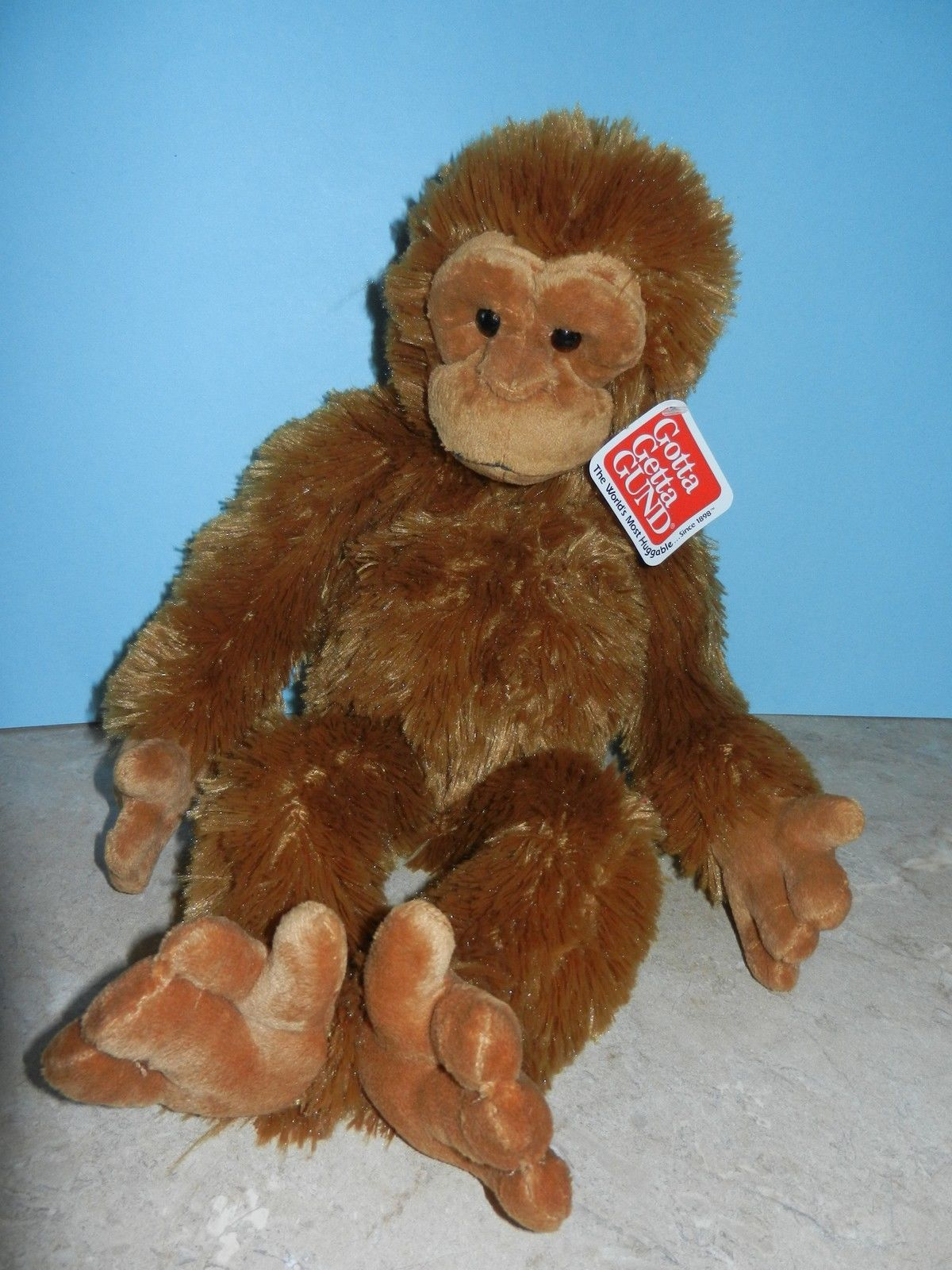 Primary image for Gund Stuffed Plush Ookie Monkey Soft Brown Fluffy with Tags