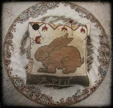 April Bunny Calendar Of Animals cross stitch chart Niky's Creations - $12.60