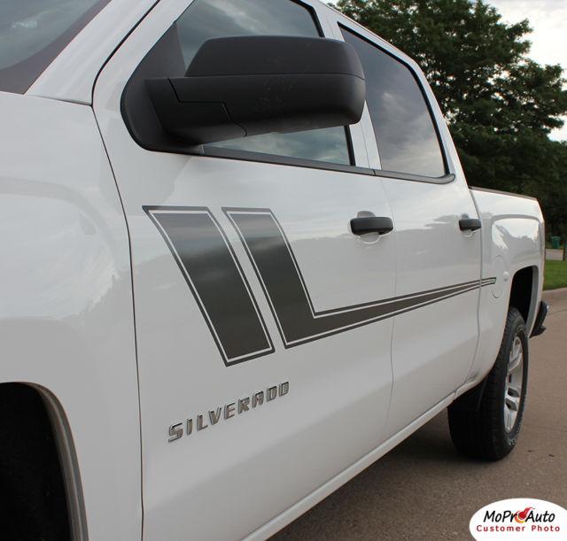 Chevy Silverado TRACK XL 3M Pro Grade Vinyl Side Stripe Decals Graphic 2008 QW8