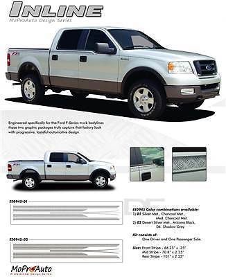 INLINE Vinyl Stripes Decals Truck FORD F-150 Series -Pro Vinyl 039