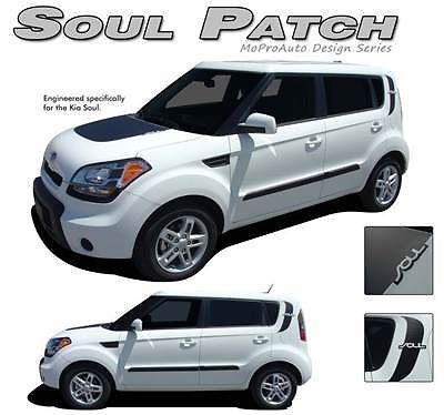 FITS KIA SOUL PATCH Vinyl GRAPHICS Stripes Decals Hood 2012 * Pro 159