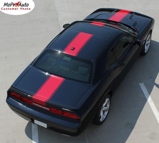 Dodge CHALLENGER 2011 CENTER WIDE RALLY Racing Stripes Decals 3M Vinyl Graphics