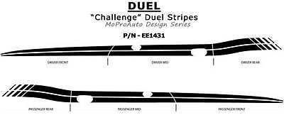 Pro Grade 3M Vinyl 2011 CHALLENGER DUEL Side 3M Stripes Graphic Decals * 384