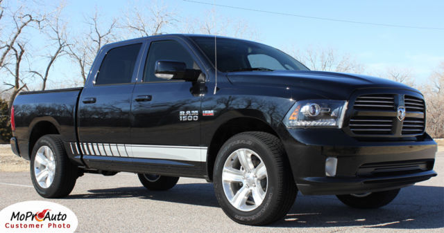 2014 Dodge Ram Lower Rocker Panel Vinyl Graphics Decals / 3M Pro Stripes TW0