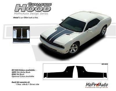 2011 Dodge CHALLENGER HOOD Vinyl Graphic Decals Stripes Pro Grade 3M Vinyl 506