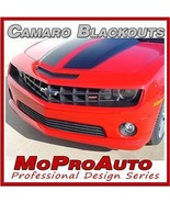 BLACKOUT 2011 Camaro Decal Stripe Graphic FRONT BUMPER / 3M Pro Vinyl 312 - $73.49