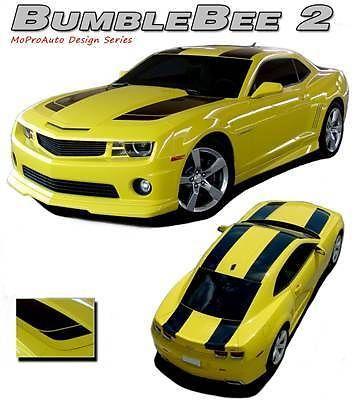 2011 Camaro BUMBLEBEE 2 Vinyl Hood Roof Spoiler Racing Stripes Decals Graphics