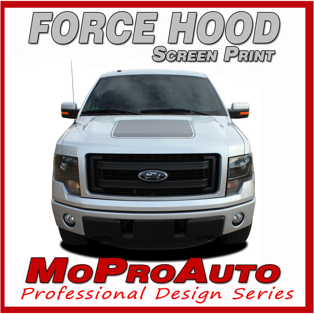 2014 Ford F-150 FORCE HOOD Screen Printed Decals Stripes 3M Vinyl Graphics WTF