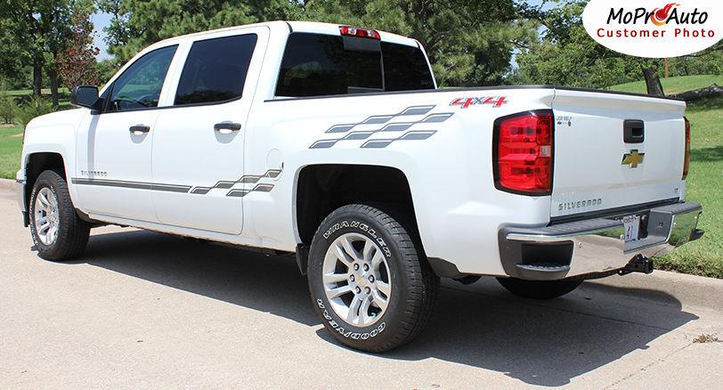2014 Chevy Silverado 3M Pro Grade Vinyl Side Stripes Decals Graphics CHAMP VCF