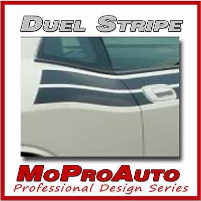 Dual Dodge Challenger Stripes 3M Pro Side Vinyl Graphic Decals 2014 RWG