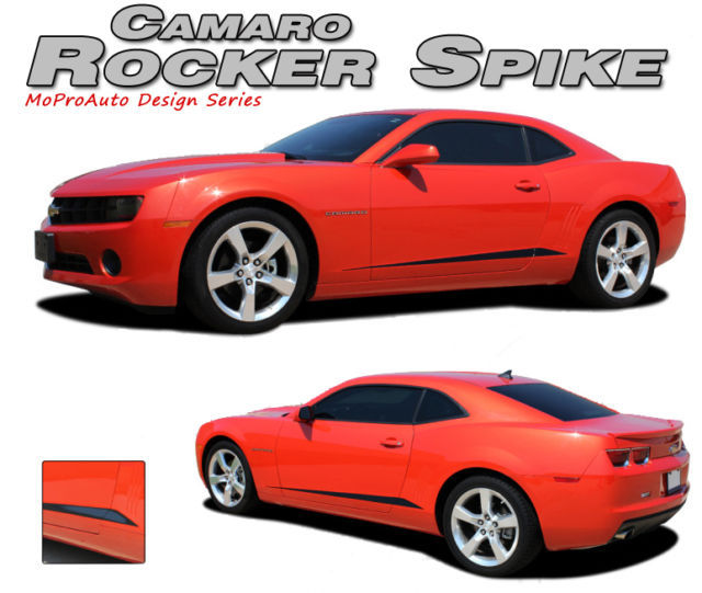 2010 Camaro Lower Door Side Stripes ROCKER SPIKE Graphics Decals - 3M Vinyl 090