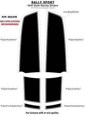 RALLY SPORT 2012 Camaro Racing Stripes - 3M Pro Vinyl Decals Graphics 325