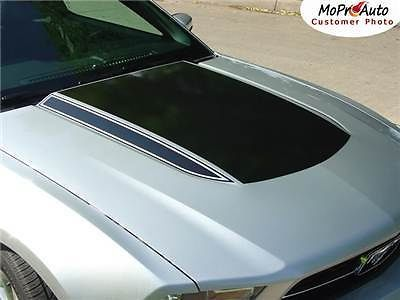 Mustang SOLID HOOD SPEARS Stripes Graphics Decals - Pro Grade 3M 2012 120