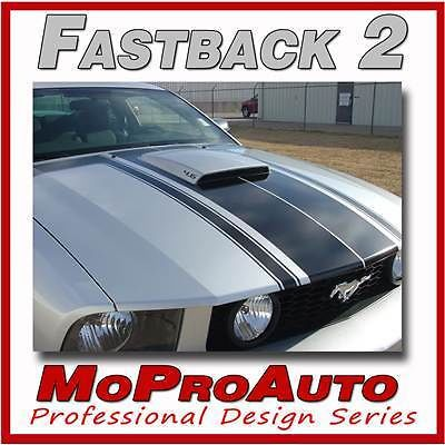 FASTBACK 2 BOSS Style - 3M Pro Grade Mustang GRAPHICS Stripes Decal 2005 152