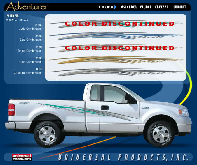 ELUDER Vinyl Graphic Decals Stripes Universal Chevy Dodge Mazda Ford F-150 250