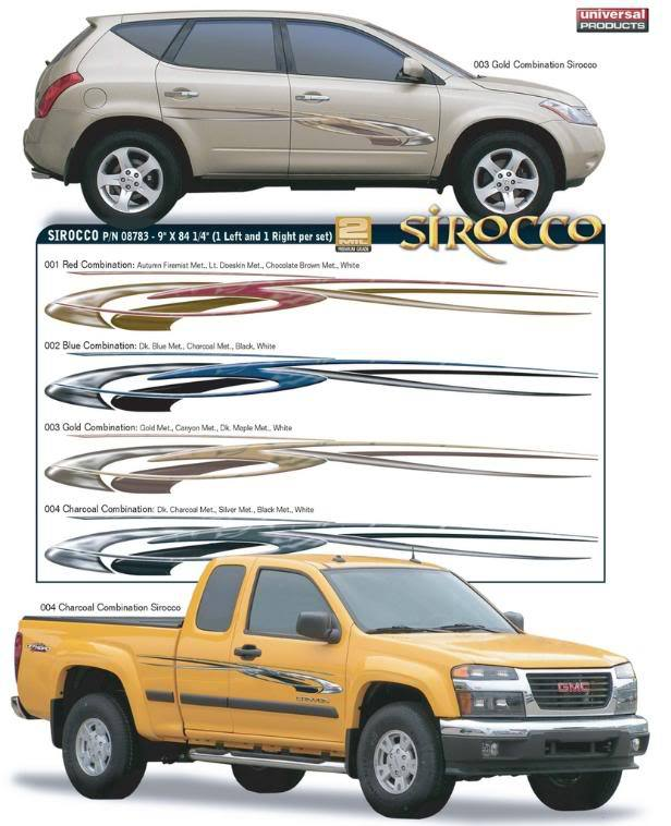 SIROCCO Vinyl Graphic Decals Stripes fits Toyota Nissan Honda Chevy Ford Dodge