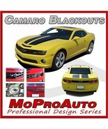 2010 BLACKOUT Camaro Decals Emblems Trunk SS Grill NEW / 3M Pro Vinyl 995 - $104.99