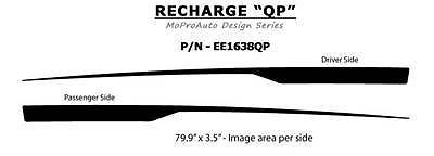 RECHARGE QP Side Dodge Charger Stripes Decals Graphics 2014 Professional 21H