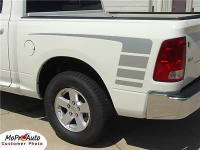 Dodge Ram Hood Side Graphics - 3M Pro Vinyl Decals Stripes 2010 211