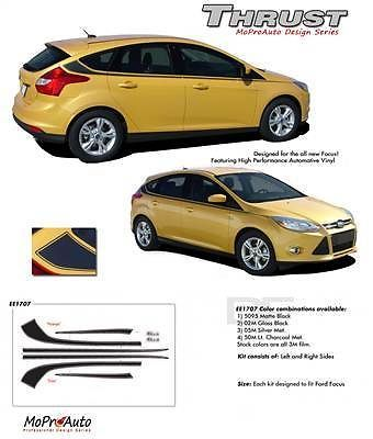 2013 Pro Grade 3M Vinyl Ford Focus THRUST Side Stripes Decals Graphics X33