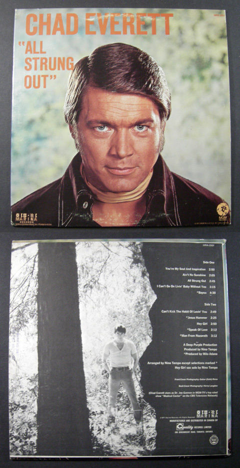 Primary image for CHAD EVERETT All Strung Out 1971 MARINA LP Canada pressing tv actor sings