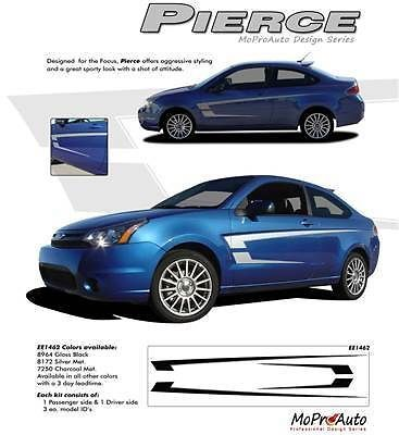 PIERCE Ford Focus Graphics Stripes Decals 2011 - 3M Pro Vinyl 469
