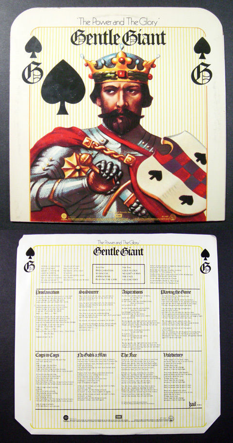 Primary image for prog GENTLE GIANT The Power & The Glory CAPITOL LP die-cut cover