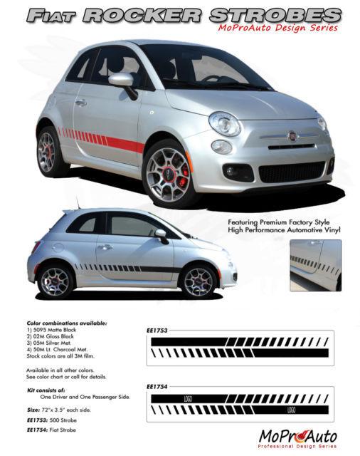 Fiat 500 SE ROCKER PANEL STROBES 2012 3M Vinyl Stripes Decals Graphics 153 PRO