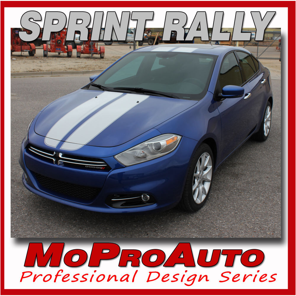 2014 Racing Stripes Dodge Dart Rally Hood Vinyl Decals Graphics 3M SW2
