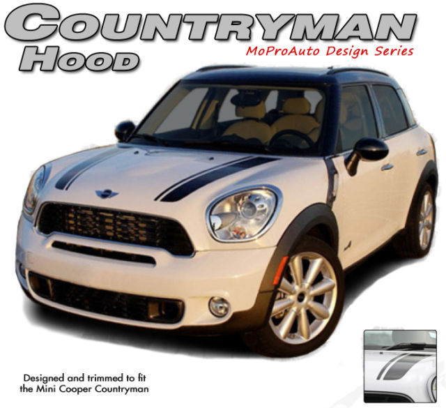 Mini Cooper Clubman COUNTRYMAN HOOD Stripes Decals Graphics Pro 3M Vinyl 190