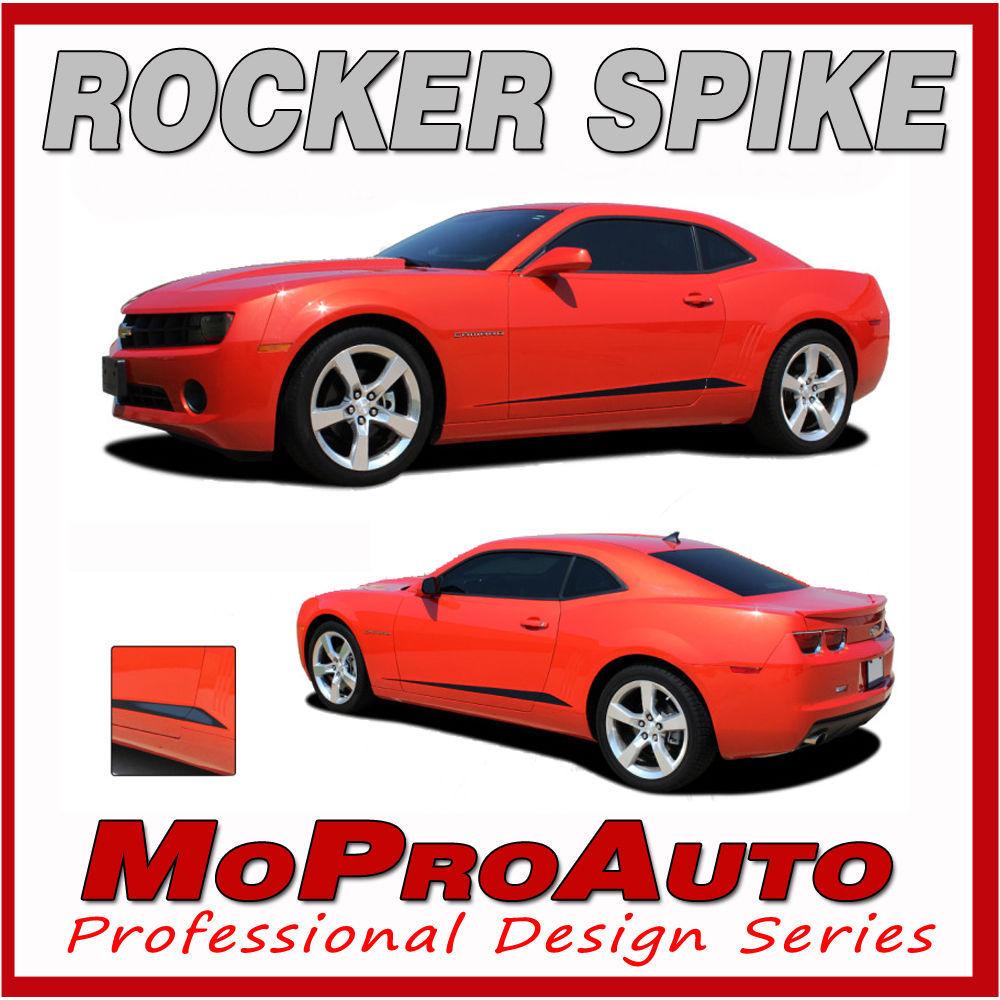 2010 Camaro Lower Door ROCKER SPIKE Side Stripes Graphics Decals - 3M Vinyl 741