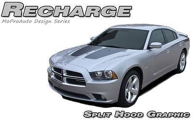 2012 Dodge Charger RECHARGE HOOD Stripes Decals Graphic * 3M Pro Vinyl 291
